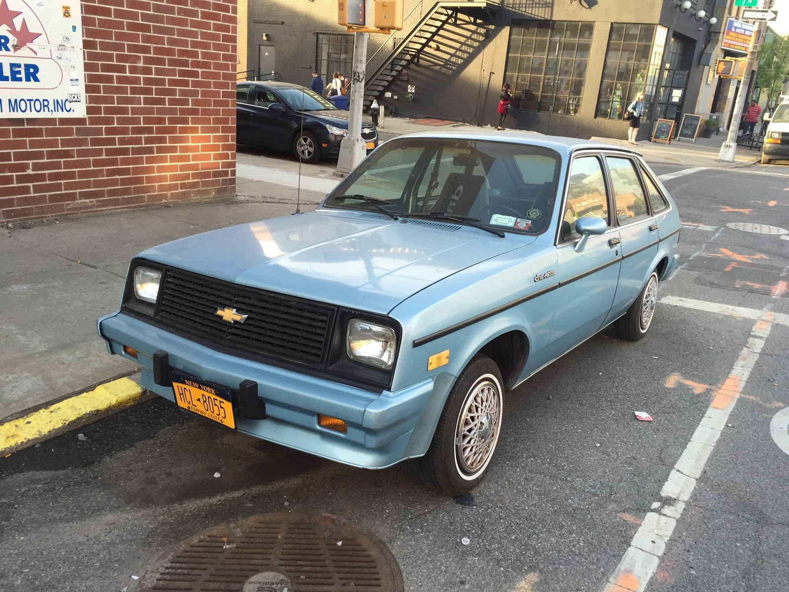 More Specifically This Is A 1986 Chevrolet Chevette Cs In Light Blue Poly One Has The Temerity To Be Sporting Spoiler Under Its Body Colored Per