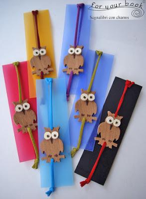 segnalibro elastico gufetto legno inciso