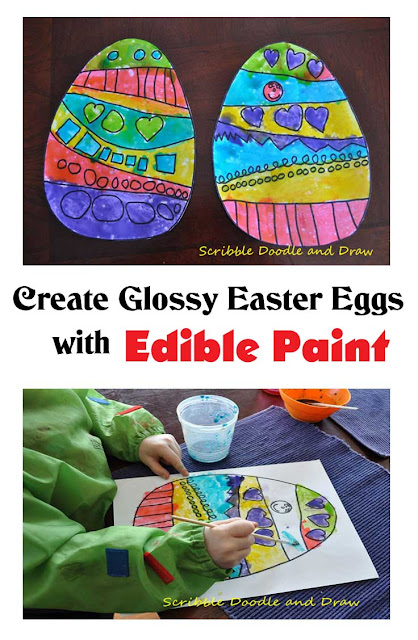 create glossy Easter eggs with Edible Paint art for kids