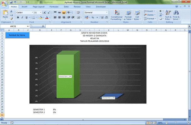 Aplikasi Absensi Siswa Format Microsoft Excel
