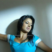 Vimala raman hot navel pics in blue dress