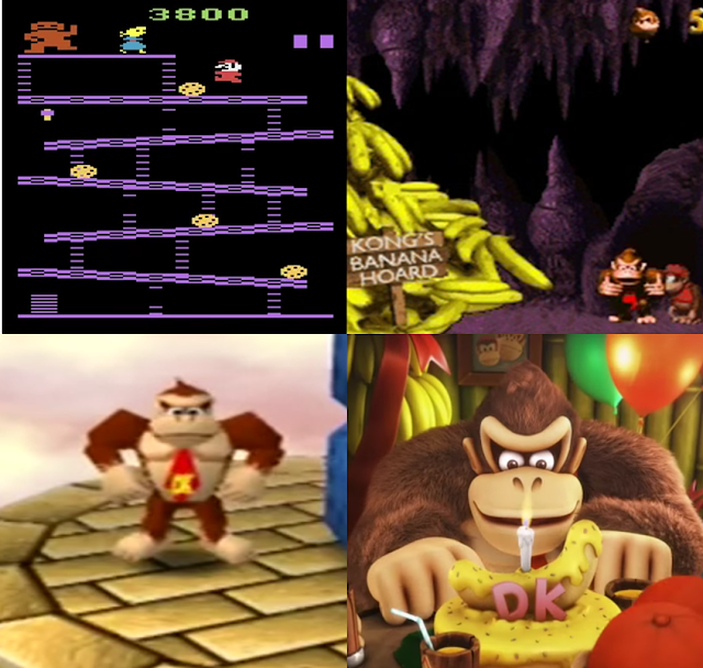 Donkey Kong Country Mario Party Tropical Freeze Atari 2600 graphical generations art styles Nintendo artistic renders