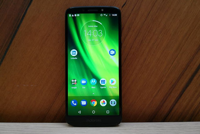The front of the Moto G6 Play.