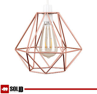 modern wire frame light pendant shade