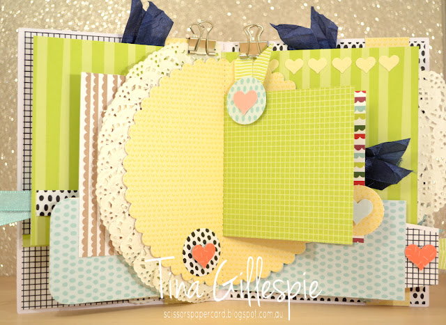 scissorspapercard, Stampin' Up!, Art With Heart, Tutti-Frutti, Celebrate You Thinlits, Mini Album