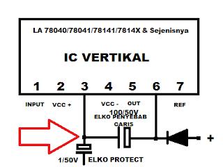 Skema vertikal menggunakan IC LA 78040, 78041, 78141 dan sejenisnya
