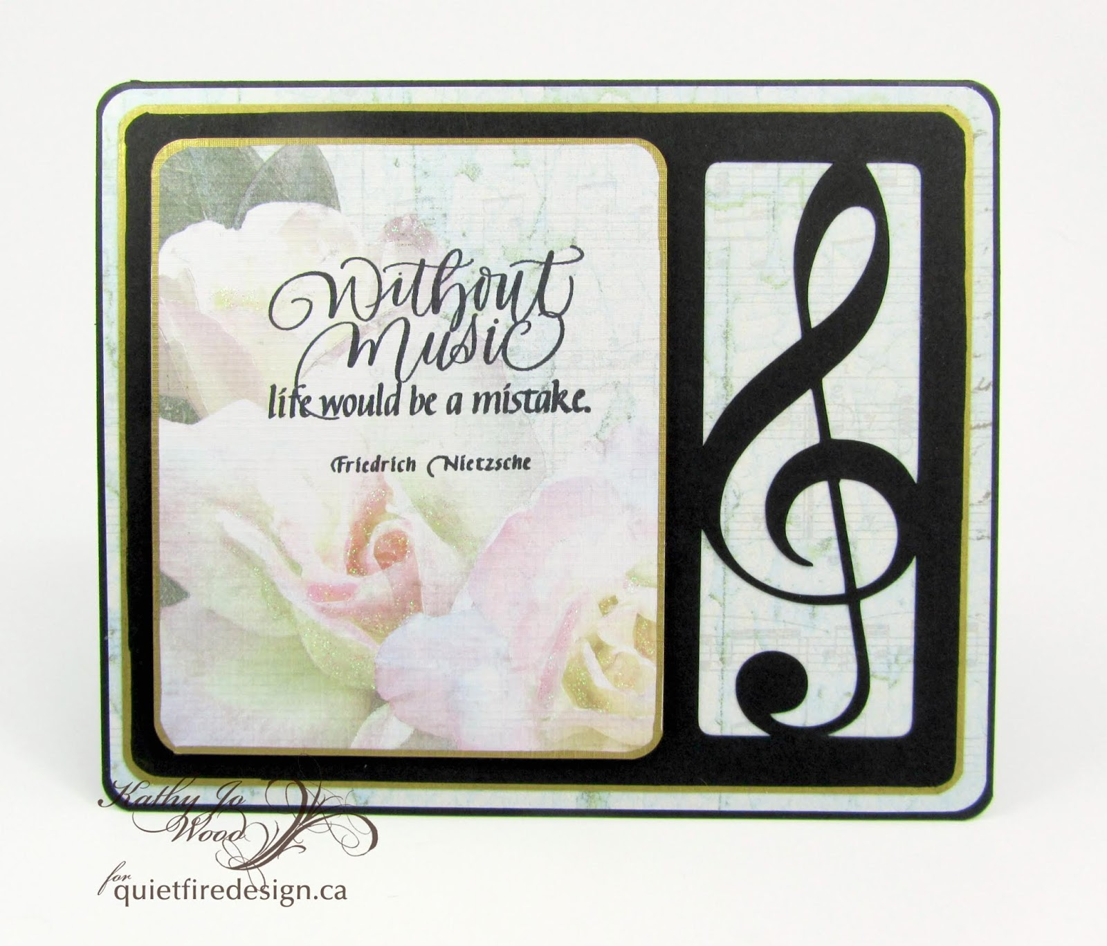 "I'm A Little Teapot...: ""Without Music"" Digital Die Cut Card"