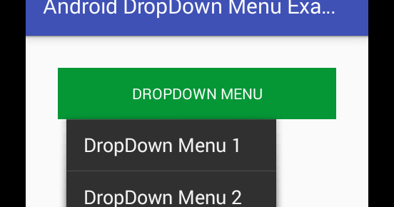 Android Dropdown Menu Example   Viral Android – Tutorials, Examples