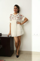 Lavanya Tripathi in Summer Style Spicy Short White Dress at her Interview  Exclusive 145.JPG