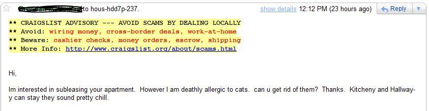 Dear Sir or Madam,: DC Craigslist - Please sublet my ...