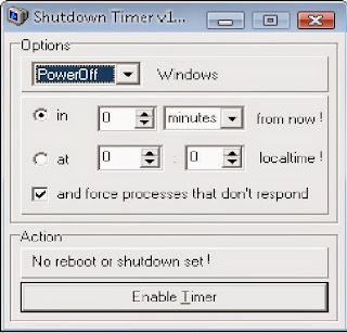 اغلق الكمبيوتر بوقت محدد وقت ما تحب ببرنامج  Shutdown