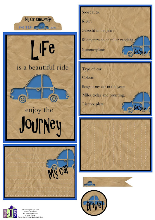 Project Life Printable Cards Car