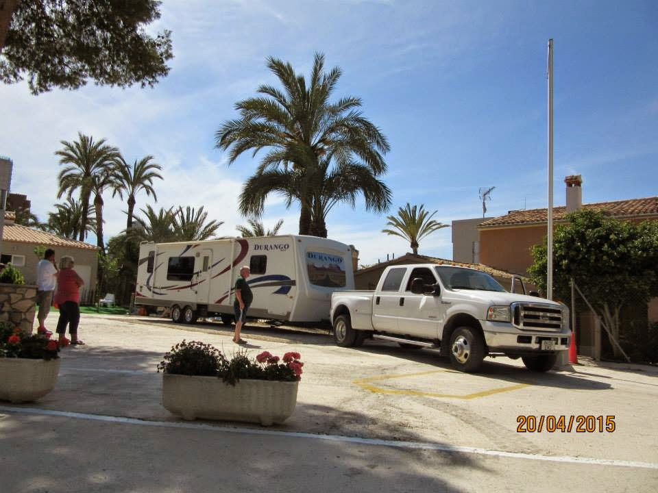 American caravan delivered to Benidorm, Spain