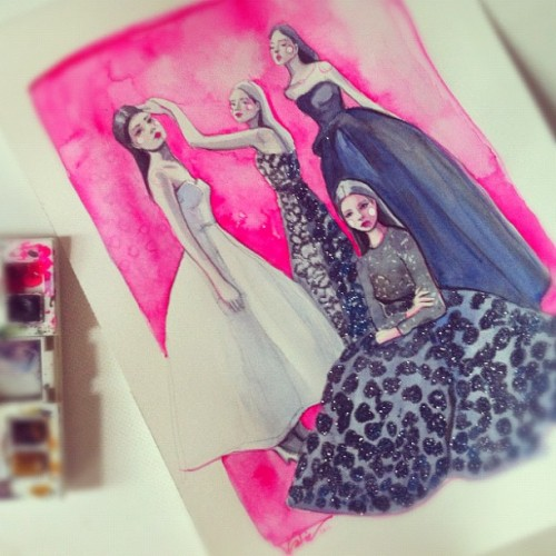 Beautiful fashion illustration by Katie Rodgers