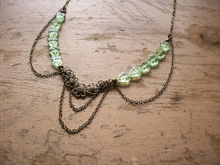https://www.etsy.com/ca/listing/274930370/green-leaves-necklace-glass-beads-with