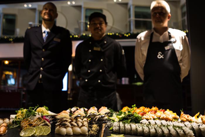 Silja Symphony sushi&co sushibaari laivalla