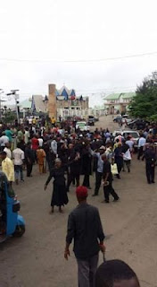 Retired civil servants in Imo State protest over unpaid pensions, elderly man slumps
