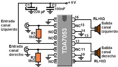 Sencillisimo Amplificador casero 6v, 1.2w P/canal - Haz... en Taringa!
