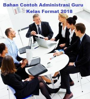 Bahan Contoh Administrasi Guru Kelas Format 2018