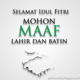 DP BBM Selamat Hari Raya Idul Fitri 1437 H  Sederhana bagus