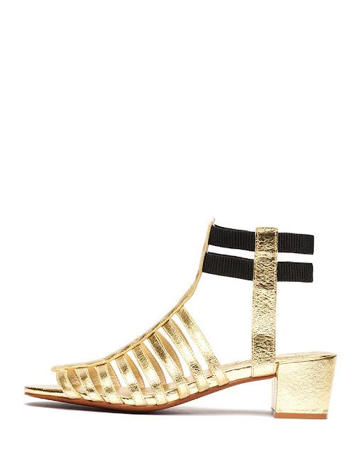 Inspiración sandalias doradas