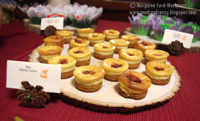Woodland Creature Baby Shower food mini cheesecakes