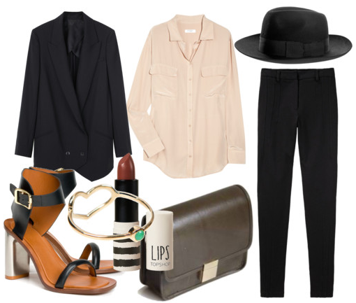 e10b39d47d0e Well, I do love to suit up. Alexander Wang tuxedo jacket, equipment shirt,  Christys fedora, Celine shoes, Jordy Askill ring, Topshop Lips in Mink, ...