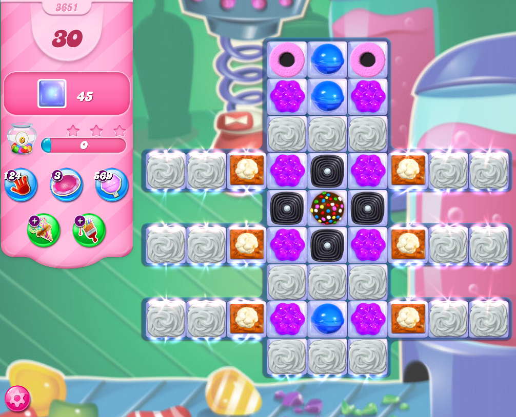 Candy Crush Saga level 3651