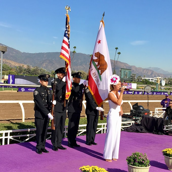APD Color Guard at Breeders' Cup