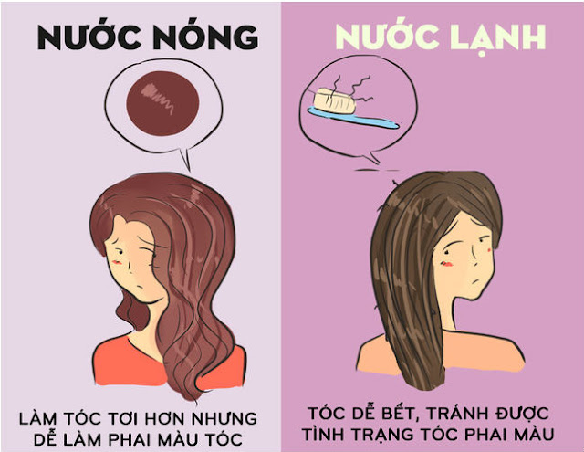 goi dau bang nuoc nong hay nuoc lanh de toc khoe
