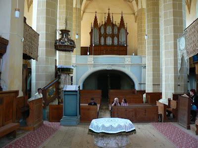 Imagini Romania: biserica fortificata de la Biertan, interior