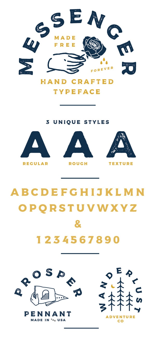 Vintage Font Gratis Terbaik - Messenger Free Vintage Font