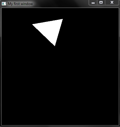 OpenGL code to rotate Triangle using Key