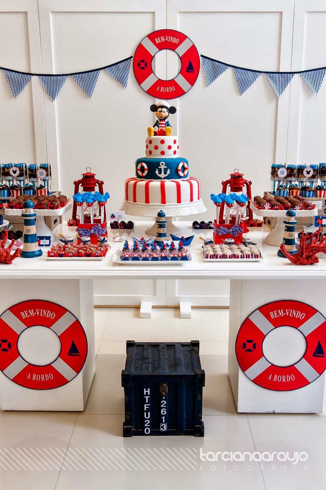 Decorao festa infantil tema mickey marinheiro blog bella fiore decorao altavistaventures Image collections
