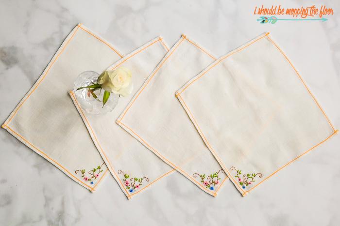 Vintage Linen Handkerchiefs