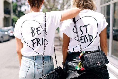 diy best friend t shirts trash to couture bloglovin. Black Bedroom Furniture Sets. Home Design Ideas