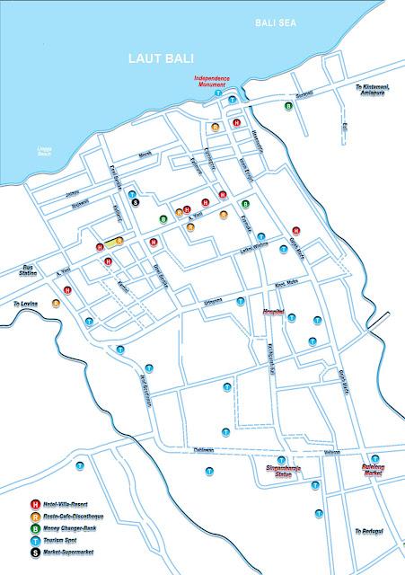 Gambar Peta Singaraja, Peta wisata Bali