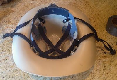 inside of khaki cowboy helmet
