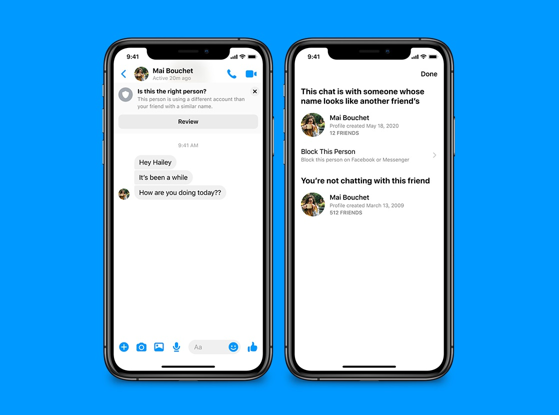 Preventing Unwanted Contacts and Scams in Messenger