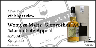 A Tasty Dram whisky review Wemyss Malts 1988 Glenrothes Marmelade Appeal