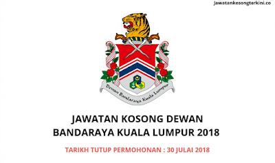 Jawatan Kosong Dewan Bandaraya Kuala Lumpur (DBKL) 2018