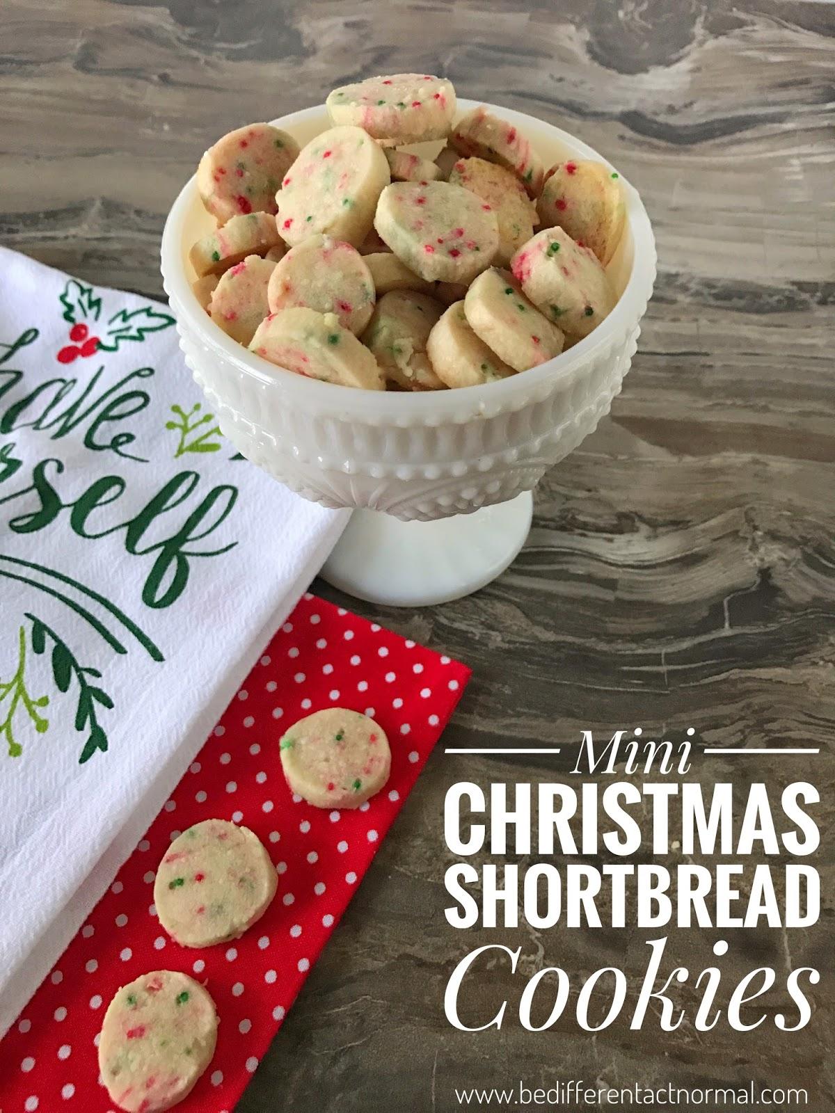 Christmas Shortbread Cookies.Mini Christmas Shortbread Cookies For Santa S Elves