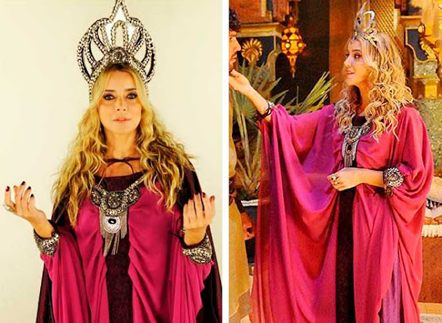 Figurino da feiticera de O rico e Lazaro