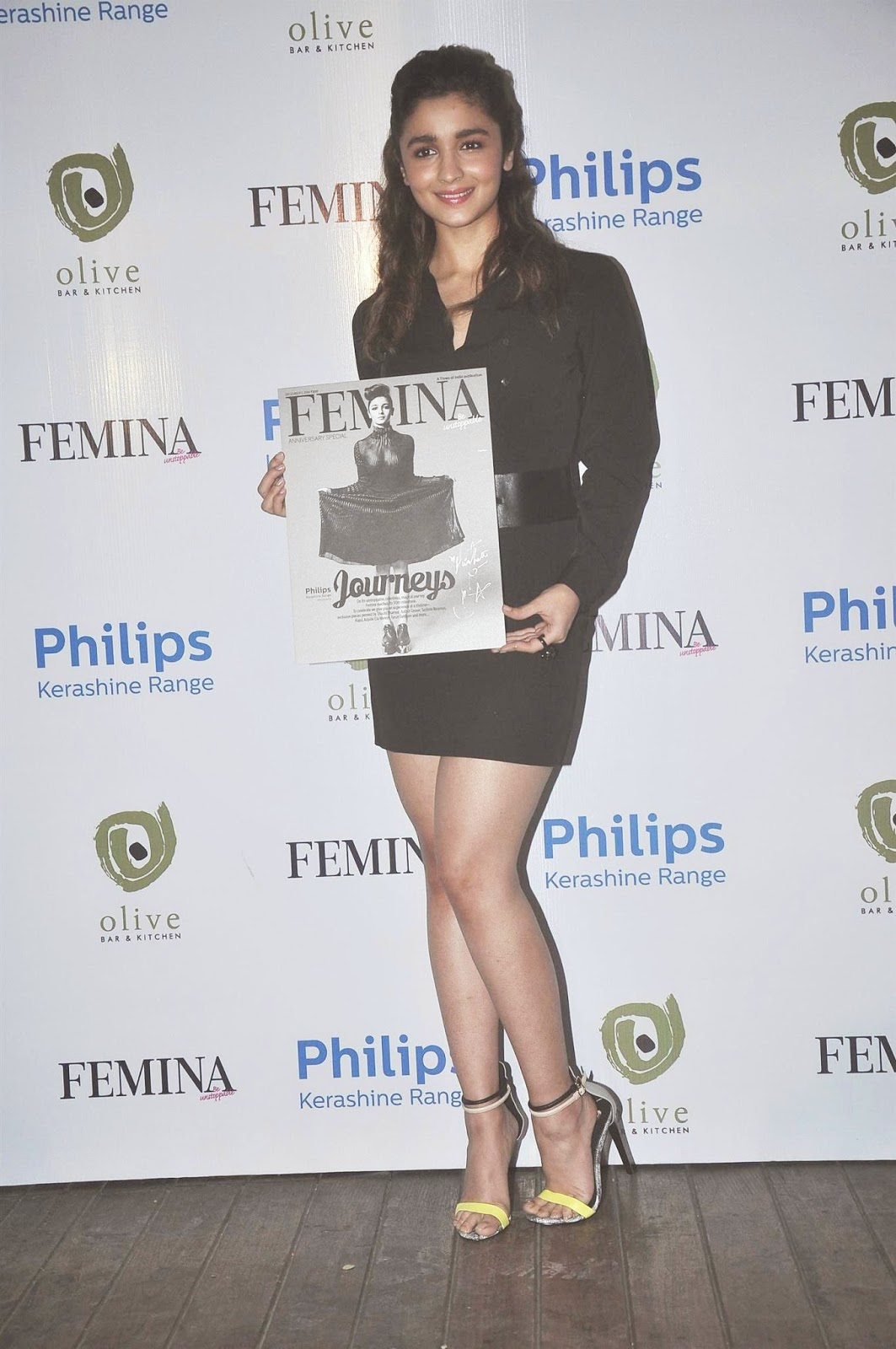 Actress Alia Bhatt launches Femina magazine's 55th anniversary issue