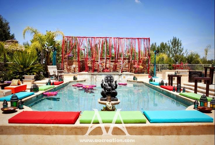 Pool Wedding Decoration Ideas: Sonal J. Shah Event Consultants, LLC: Pool Party Décor