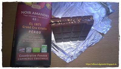 Dunkle Bio Schokolade mit Mandeln