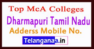 Top MCA Colleges in Dharmapuri Tamil Nadu
