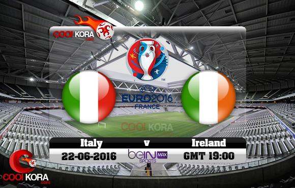 مشاهدة مباراة إيطاليا وإيرلندا اليوم 22-6-2016 بي أن ماكس يورو 2016