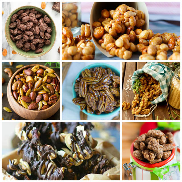 70+ Homemade Christmas Food Gifts: Nut Recipes - Savory & Sweet