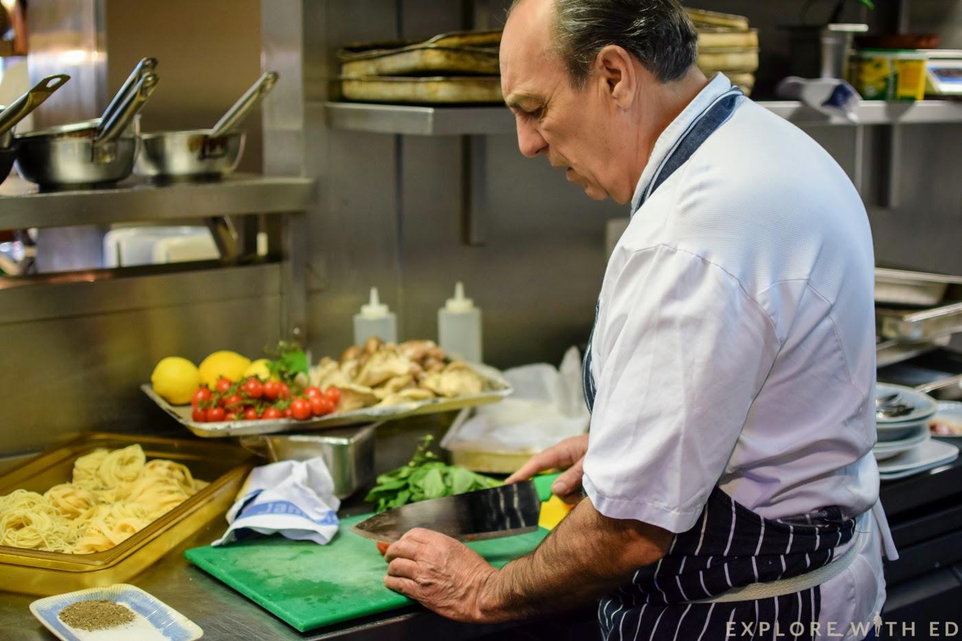 Gennaro cooking Jamie's Italian